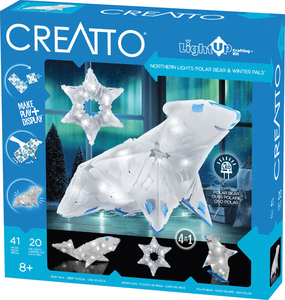 Creatto - Northern Lights Polar Bear & Winter Pals