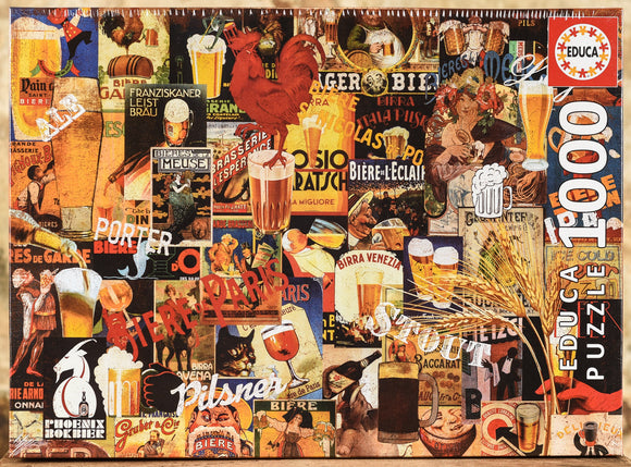 Vintage Beer Collage 1000 Piece Puzzle