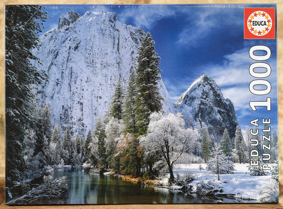 Yosemite Winter 1000 Piece Puzzle