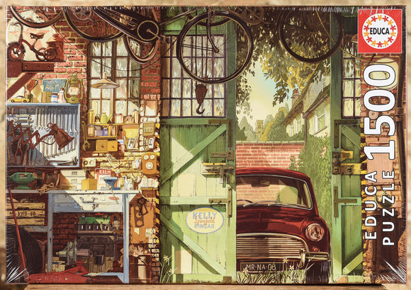 Old Garage 1500 Piece Puzzle