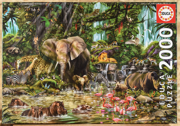 African Jungle 2000 Piece Puzzle