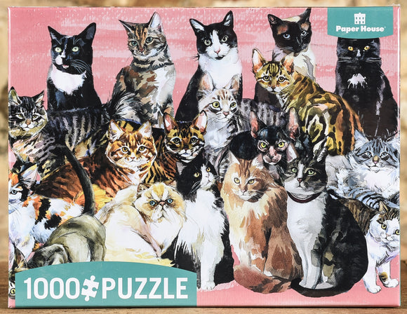 Watercolor Cats 1000 Piece Puzzle
