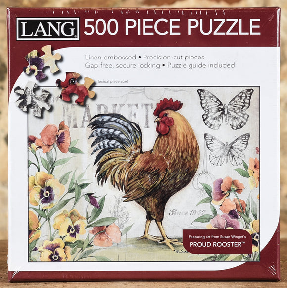 Proud Rooster - 500 Piece Puzzle