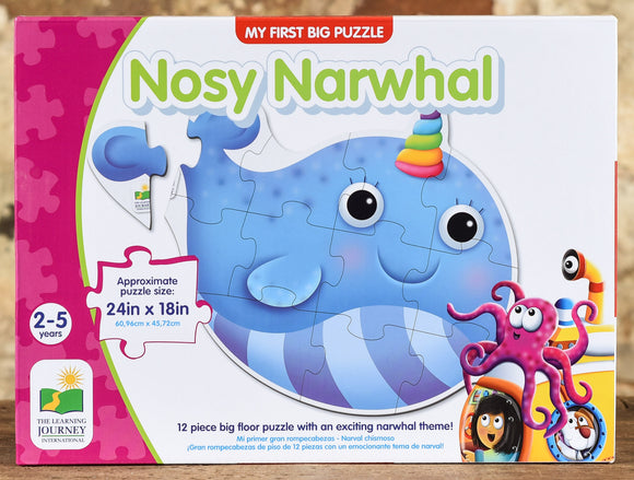 Nosy Narwhal - 12 Piece Floor Puzzle