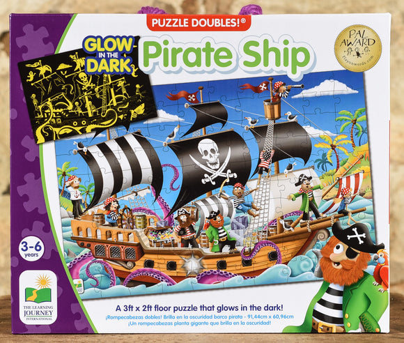 Pirate Ship Glow In The Dark - 100 Piece Floor Puzzle
