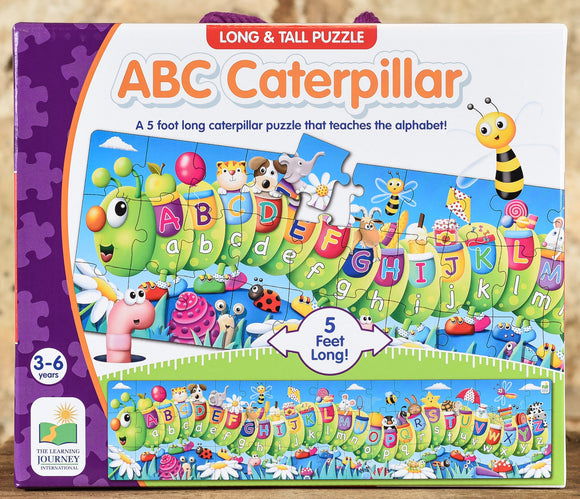 ABC Caterpillar - 50 Piece Long & Tall Floor Puzzle