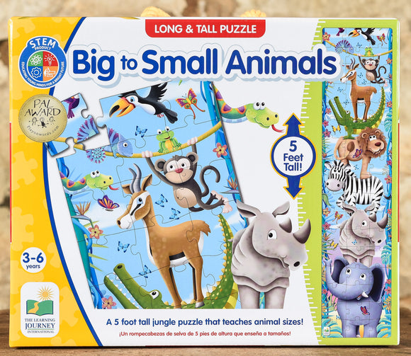 Big to Small Animals - 50 Piece Long & Tall Floor Puzzle
