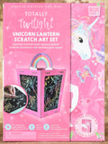 Totally Twilight Unicorns Lantern Scratch Art Set