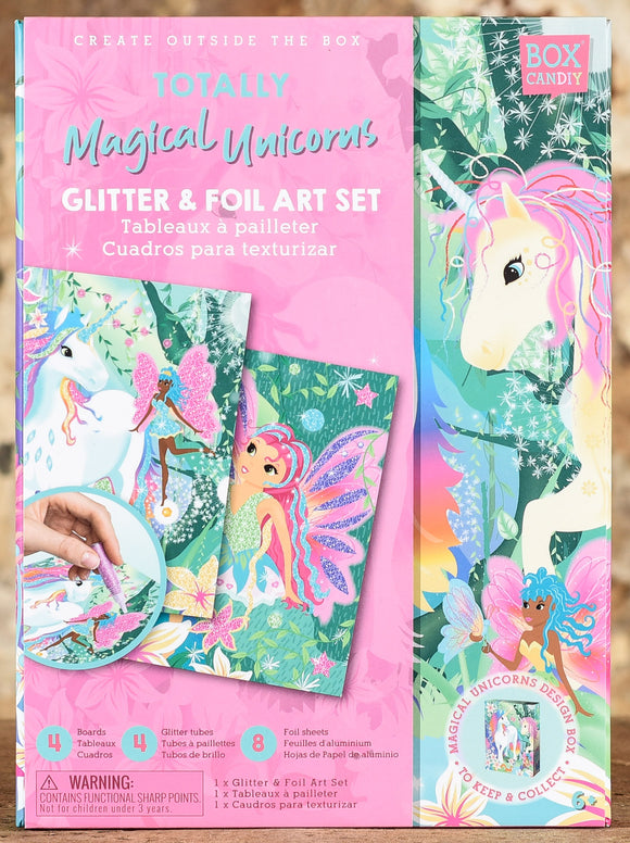 Totally Magical Unicorns Glitter & Foil Art Set