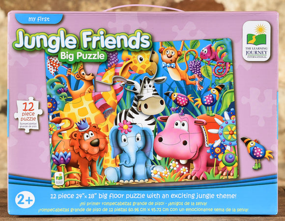 Jungle Friends - 12 Piece Big Floor Puzzle