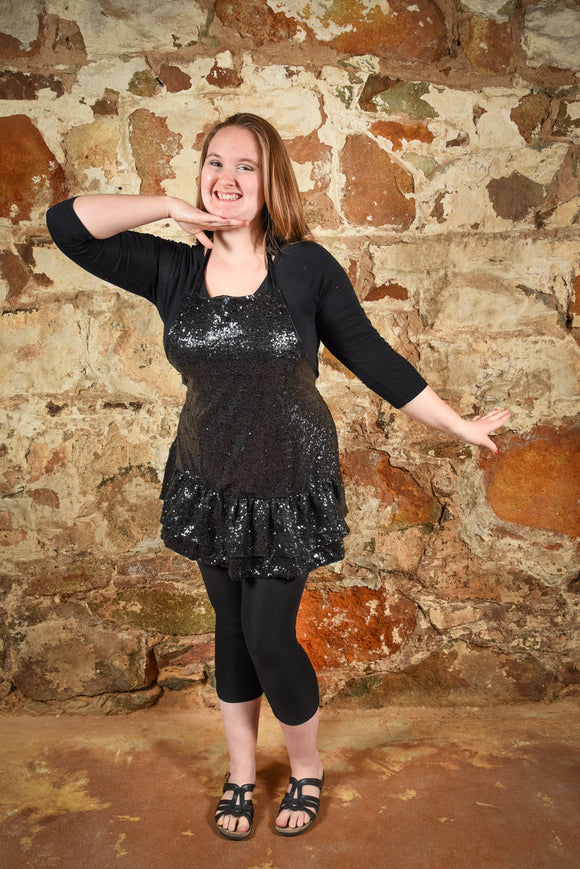 Apron Black Sequin