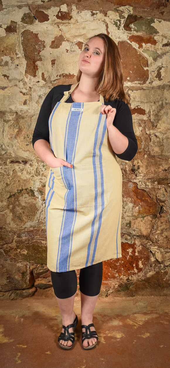 Apron French Blue Stripe