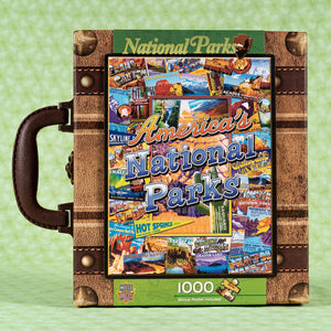 National Parks Suitcase 1000 Piece Puzzle