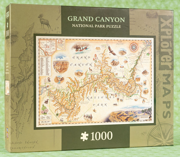 Grand Canyon Map 1000 Piece Puzzle