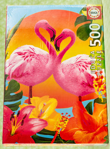 Flamingos 500 Piece Puzzle