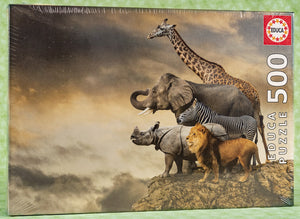 Animals On A Cliff 500 Piece Puzzle