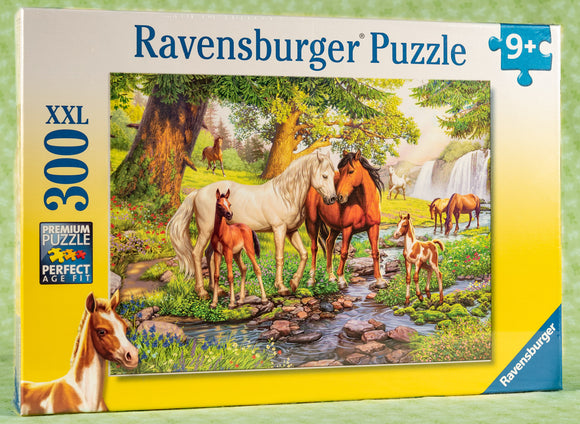 Horses By The Stream 300 Piece Puzzle