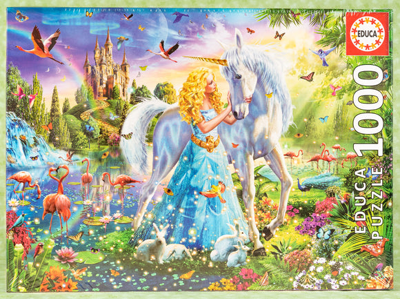 Princess & the Unicorn 1000 Piece Puzzle