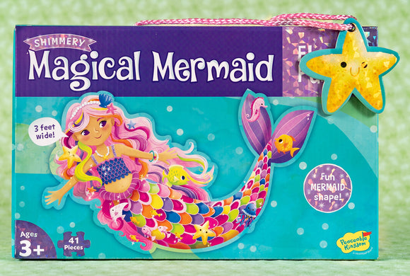 Shimmery Magical Mermaid 41 Piece Floor Puzzle