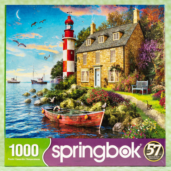 The Cottage Lighthouse 1000 Piece Puzzle