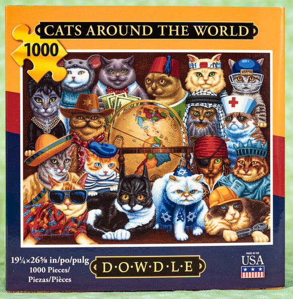 Cats Around the World 1000 Piece Puzzle