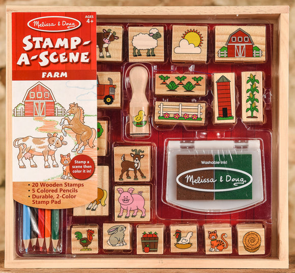 Wooden Stamp Set - Stamp a Scene - Farm