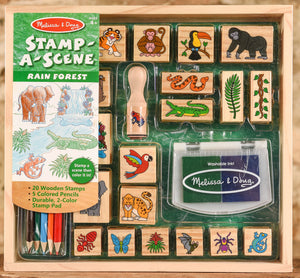 Wooden Stamp Set - Stamp a Scene - Rain Forest