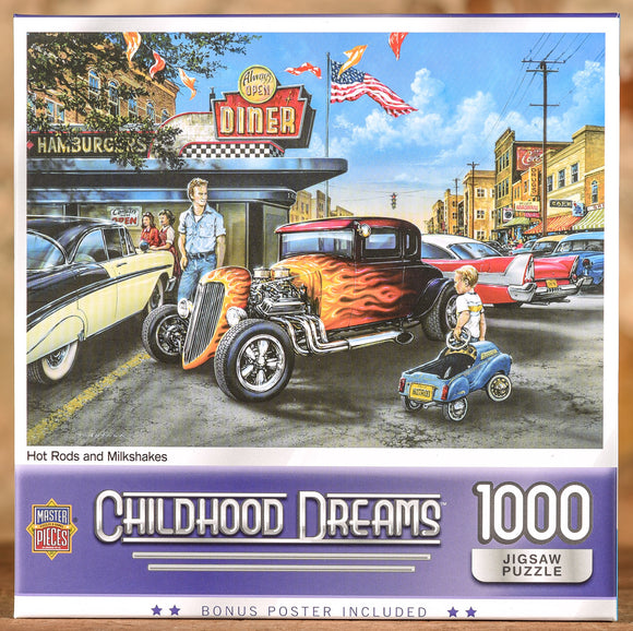 Hot Rods and Milkshakes 1000 Piece Puzzle