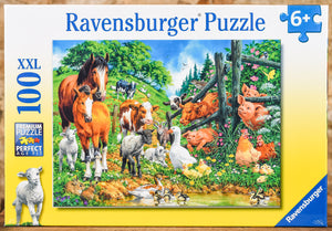Animal Get Together 100 Piece Puzzle