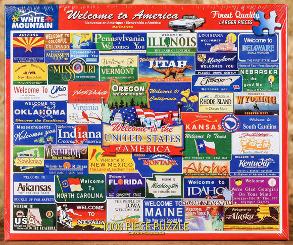 Welcome to America 1000 Piece Puzzle