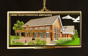 Downtown Grass Valley Ornament - Elks Lodge (2016)