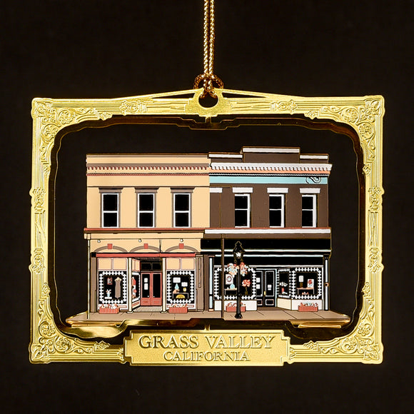 Downtown Grass Valley Ornament - Yuba Blue (2020)