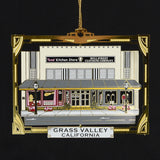 Downtown Grass Valley Ornament - Tess' Kitchen Store & Mill St. Clothing (2018)