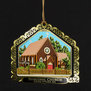 Downtown Grass Valley Ornament - Episcopal Church (2015)