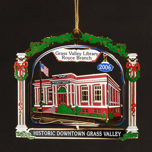 Downtown Grass Valley Ornament - The Library (2006)