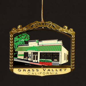 Downtown Grass Valley Ornament - Tofanelli's (2017)