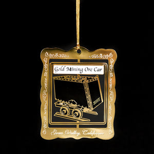 Downtown Grass Valley Ornament - Ore Cart (2014)