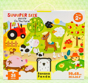 On The Farm 35 Piece Puzzle - Suuuper Size