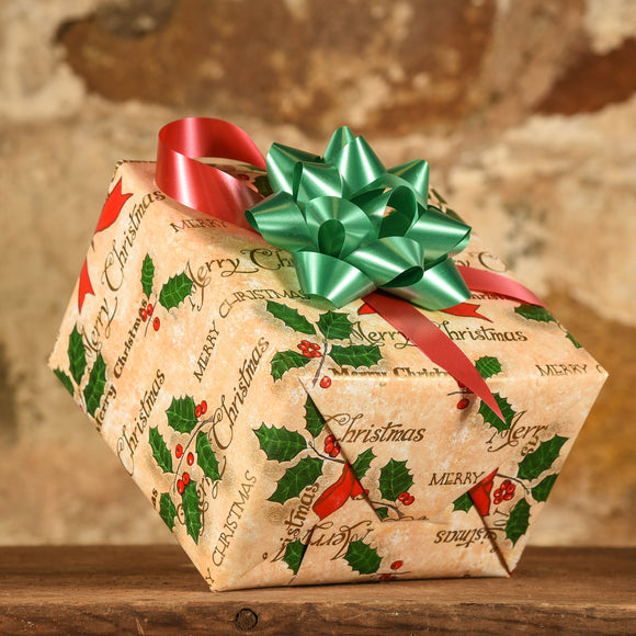 Complimentary Gift Wrap: Holly and Merry Christmas