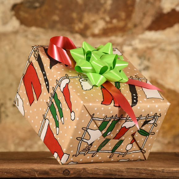 Complimentary Gift Wrap:  Santa's Laundry Day