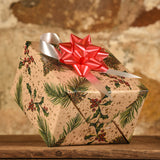 Complimentary Gift Wrap:  Holly & Pinecones