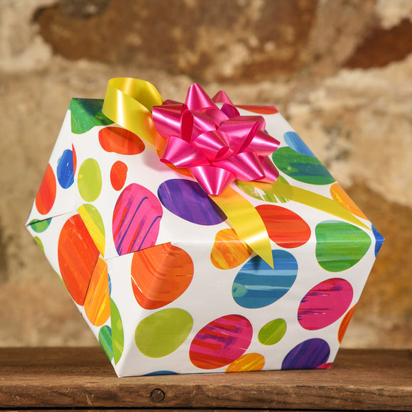 Complimentary Gift Wrap: Cheerful Dots