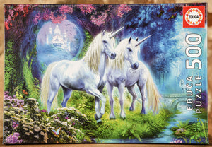 Unicorns in the Forest 500 Piece Puzzle