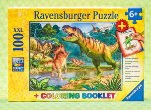 World of Dinosaurs 100 Piece Puzzle