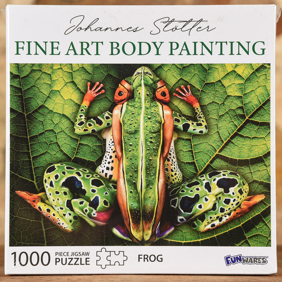 Frog - Fine Art Body Painting 1000 Piece Puzzle