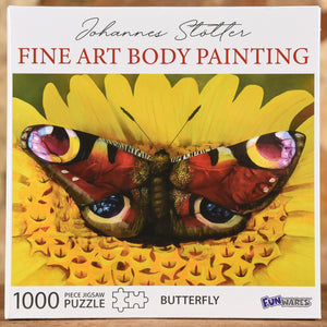 Butterfly - Fine Art Body Painting 1000 Piece Puzzle