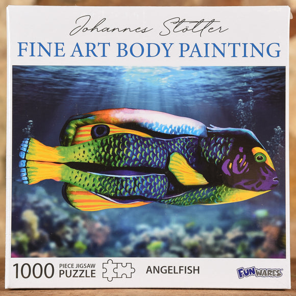 Angel Fish - Fine Art Body Painting 1000 Piece Puzzle