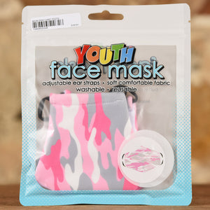 Pink Camo Mask- Youth Size