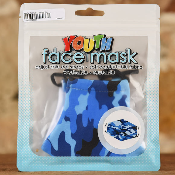 Blue Camo Mask- Youth Size