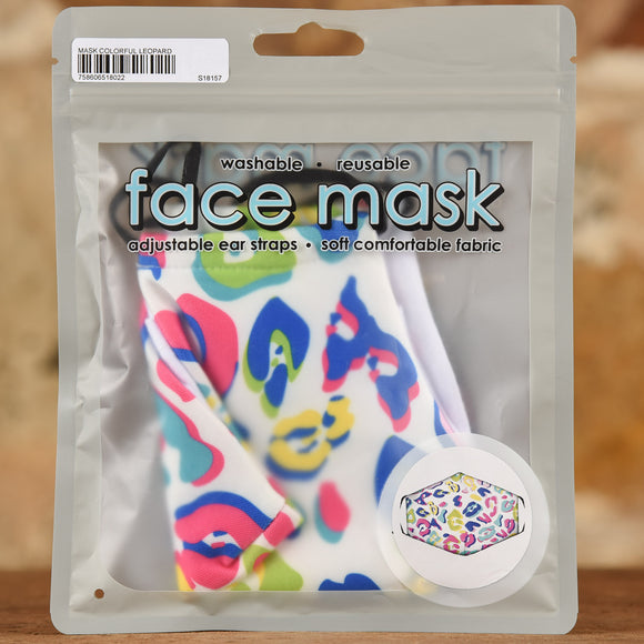 Colorful Leopard Mask- Adult Size
